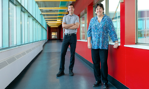 University of Waterloo Ph.D. graduate Fiodar Kazhamiaka and Professor Catherine Rosenberg